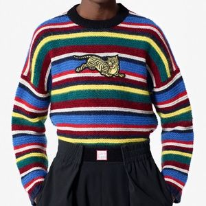 Kenzo 'Jumping Tiger' Striped Jumper Sweater